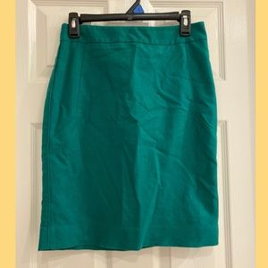 Green pencil skirt from The Limited, size 2